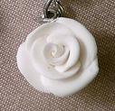 A white Fimo rose